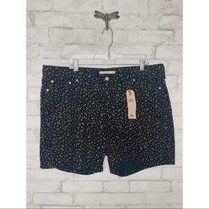 Levi's Rose Patterned Classic Shorts NWT